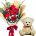 send birthday flowers with bear in mania city