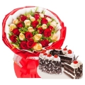 send roses with cake to manila