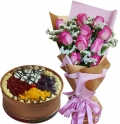 send anniversary cake with flowers in manila city