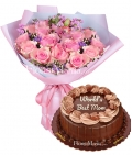 Send Mother's Day Flower with Cake to Metro Manila