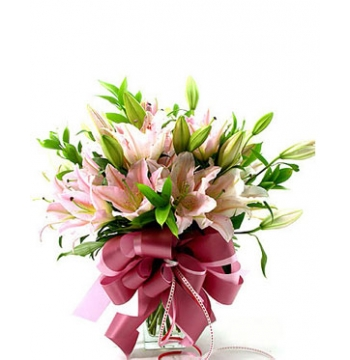 12 Perfume lilies with a Beautiful Bottle Send to Manila Philippines