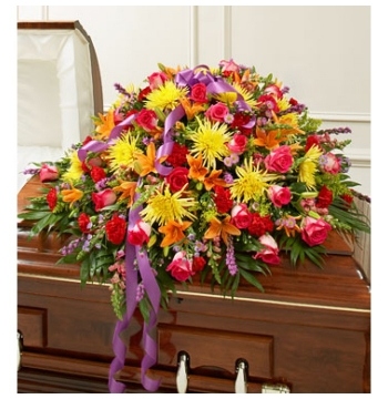 Vivacious Funeral Casket Flowers Spray Send to Manila Philippines