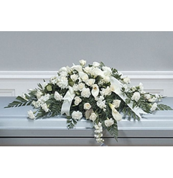 White Calla Casket Spray Send to Manila Philippines