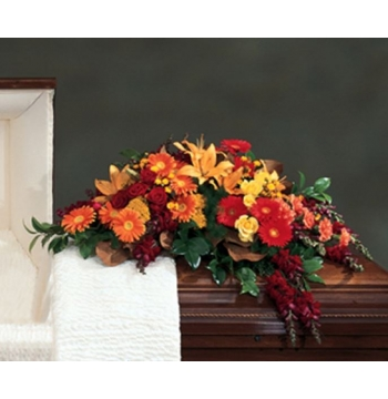 Autumn Flowers Casket Spray Send to Manila Philippines