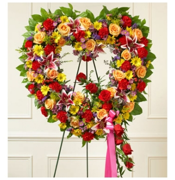 Ravishing Heart Wreath Send to Manila Philippines