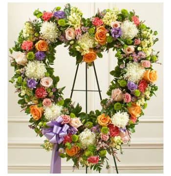 Softly Colored Heart Wreath Send to Manila Philippines