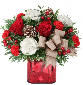Purest Intentions Xmas Flowers in Vase